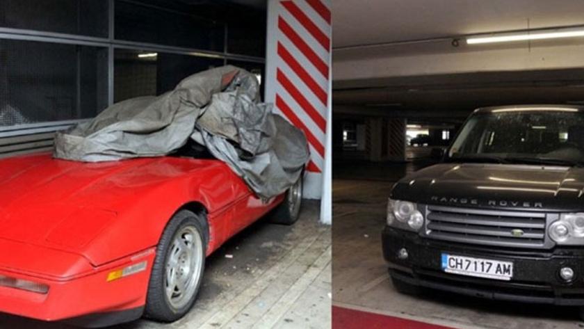 Lüks araçlar havalimanında unutuldu