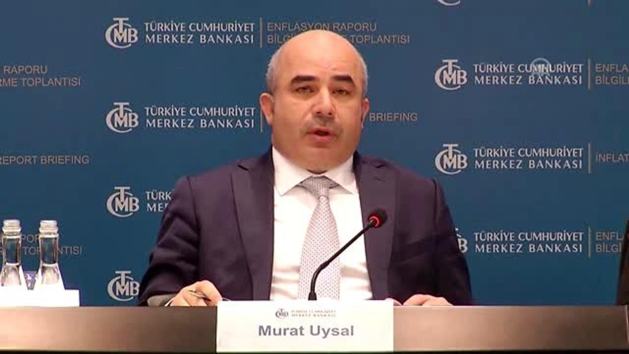 Murat Uysal enflasyon raporuna ilişkin sunum yaptı: Yılsonu enflasyon tahmini 1.5 puan yükseldi